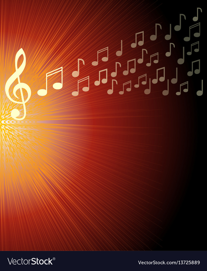 Musical background with treble clef and and notes