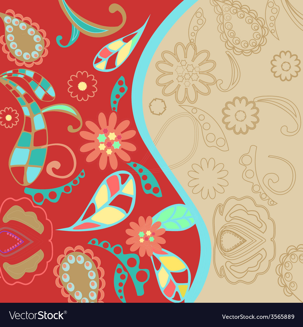 Pattern floral background vector image