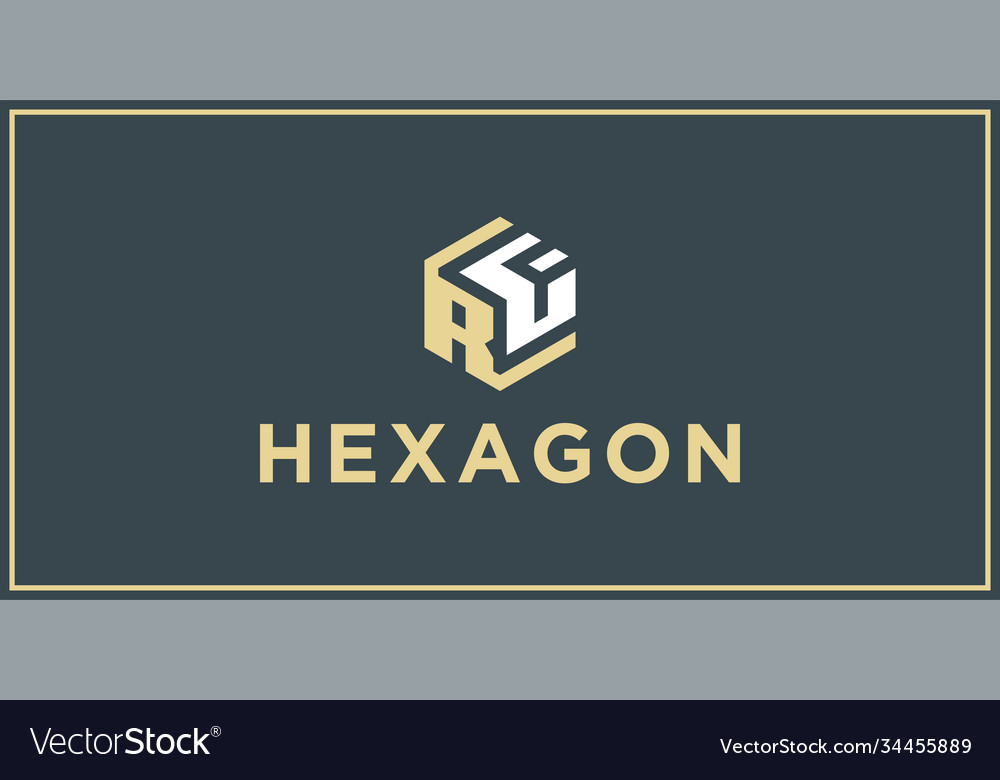 Rf hexagon logo design inspiration