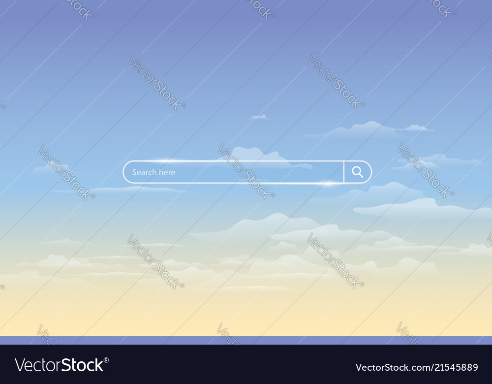 Search bar on background of sky simple search