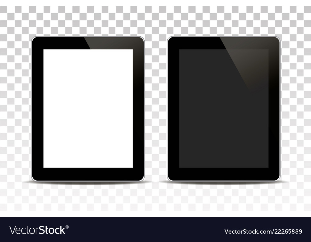 White tablet computer isolated on