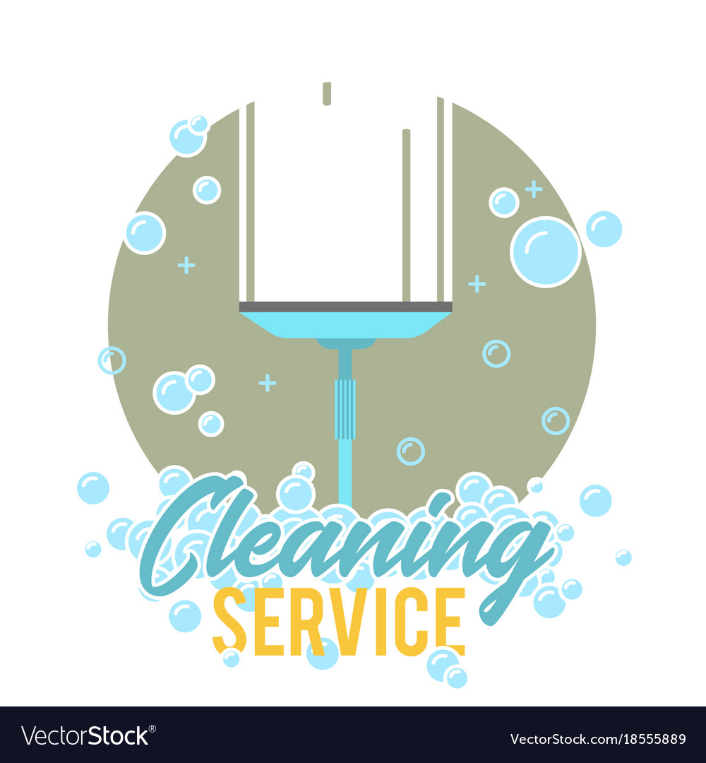 Window cleaning service logo label or symbol