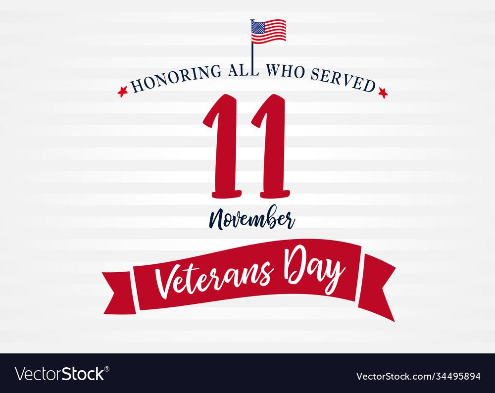 11 november veterans day usa poster light stripes