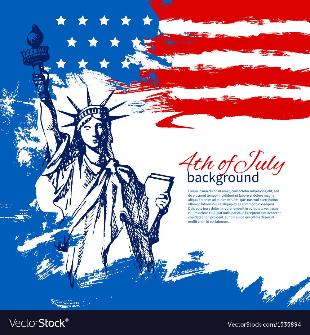4th july background with american flag