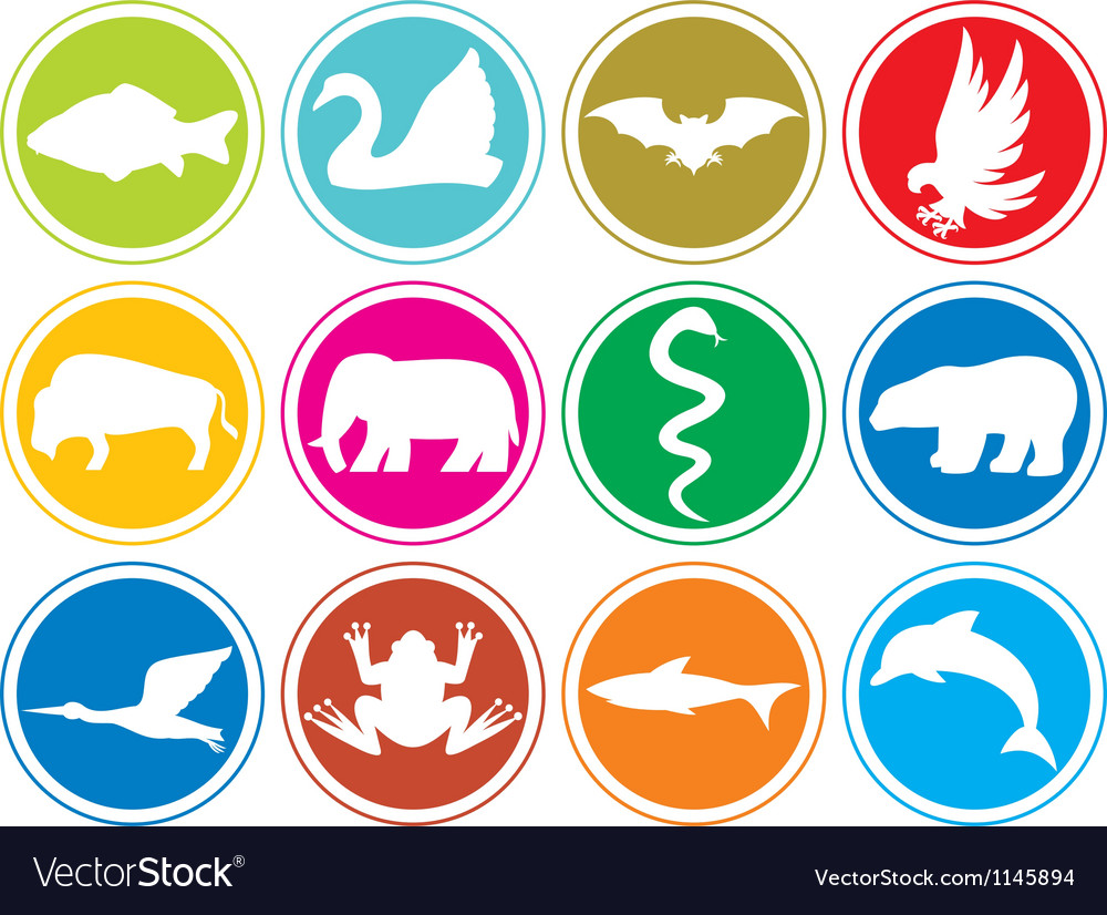 Animals icons buttons-animal icons set