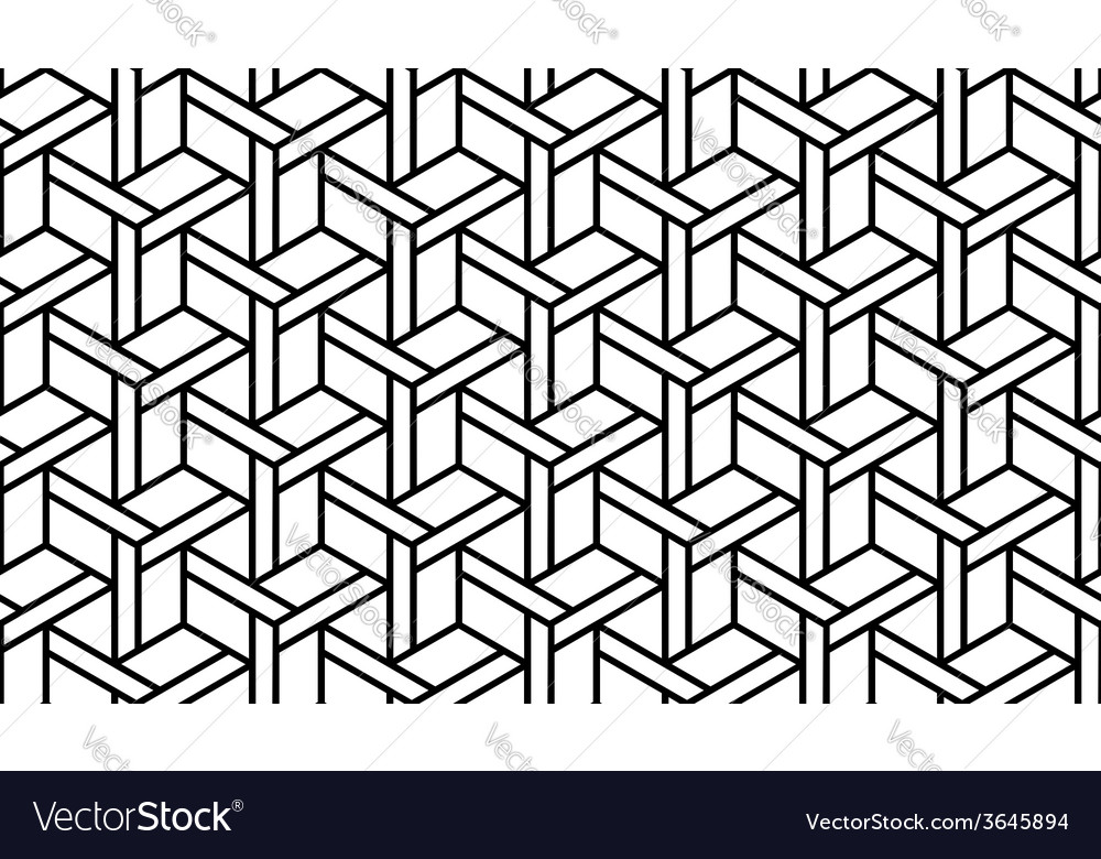 Black And White Geometric Pattern Royalty Free Vector Image
