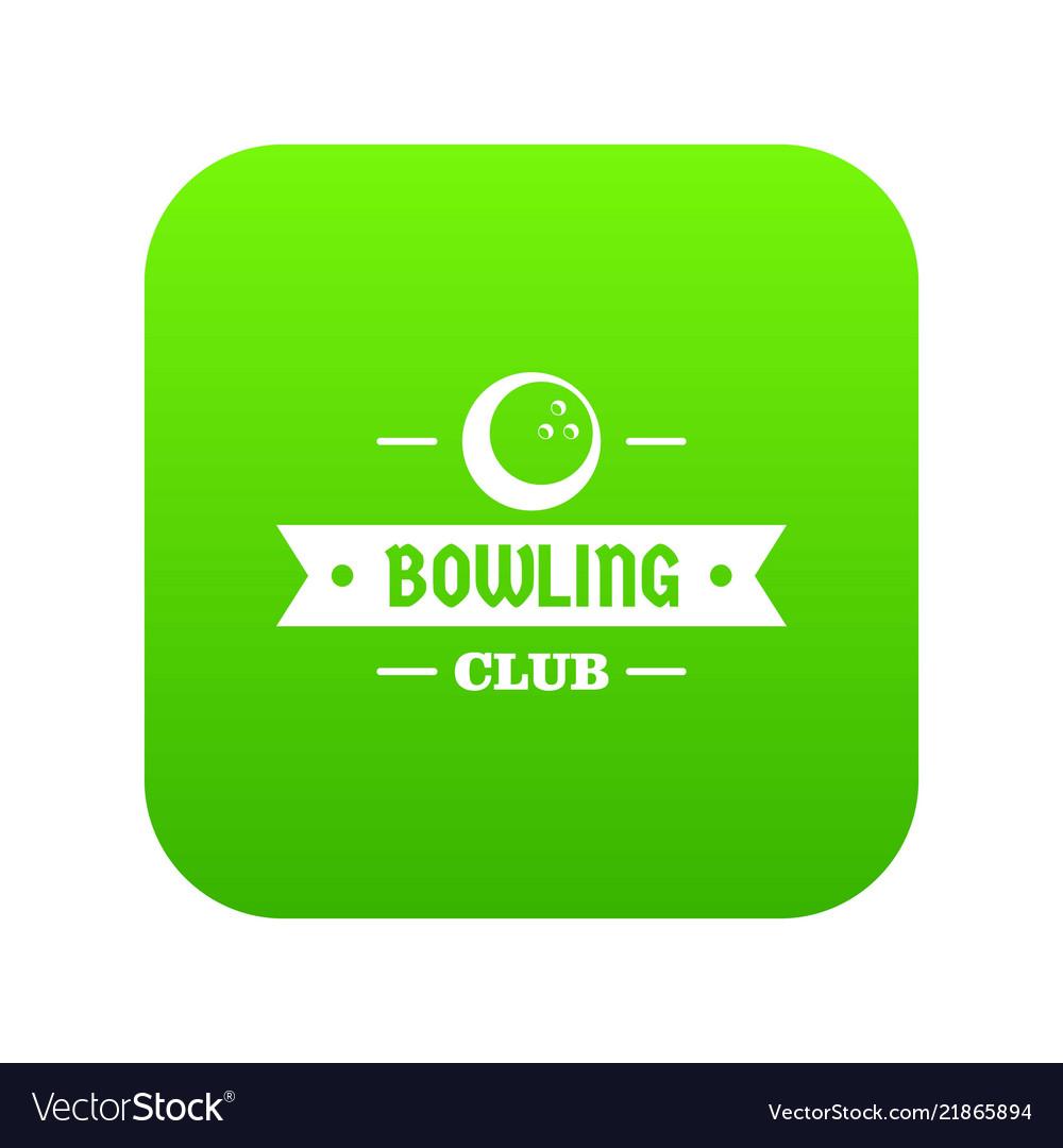 Bowling icon green