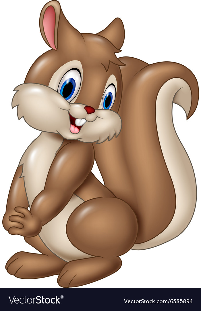 Cartoon funny squirrel isolated