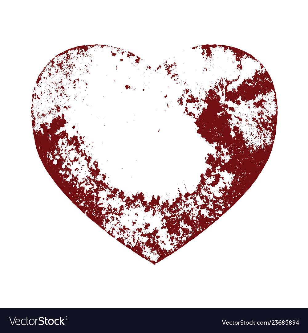 Distress heart shape