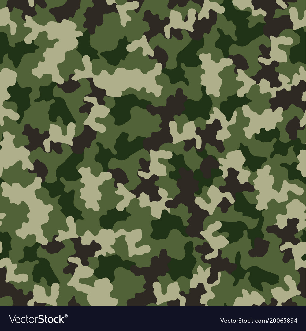Green camouflage seamless pattern military