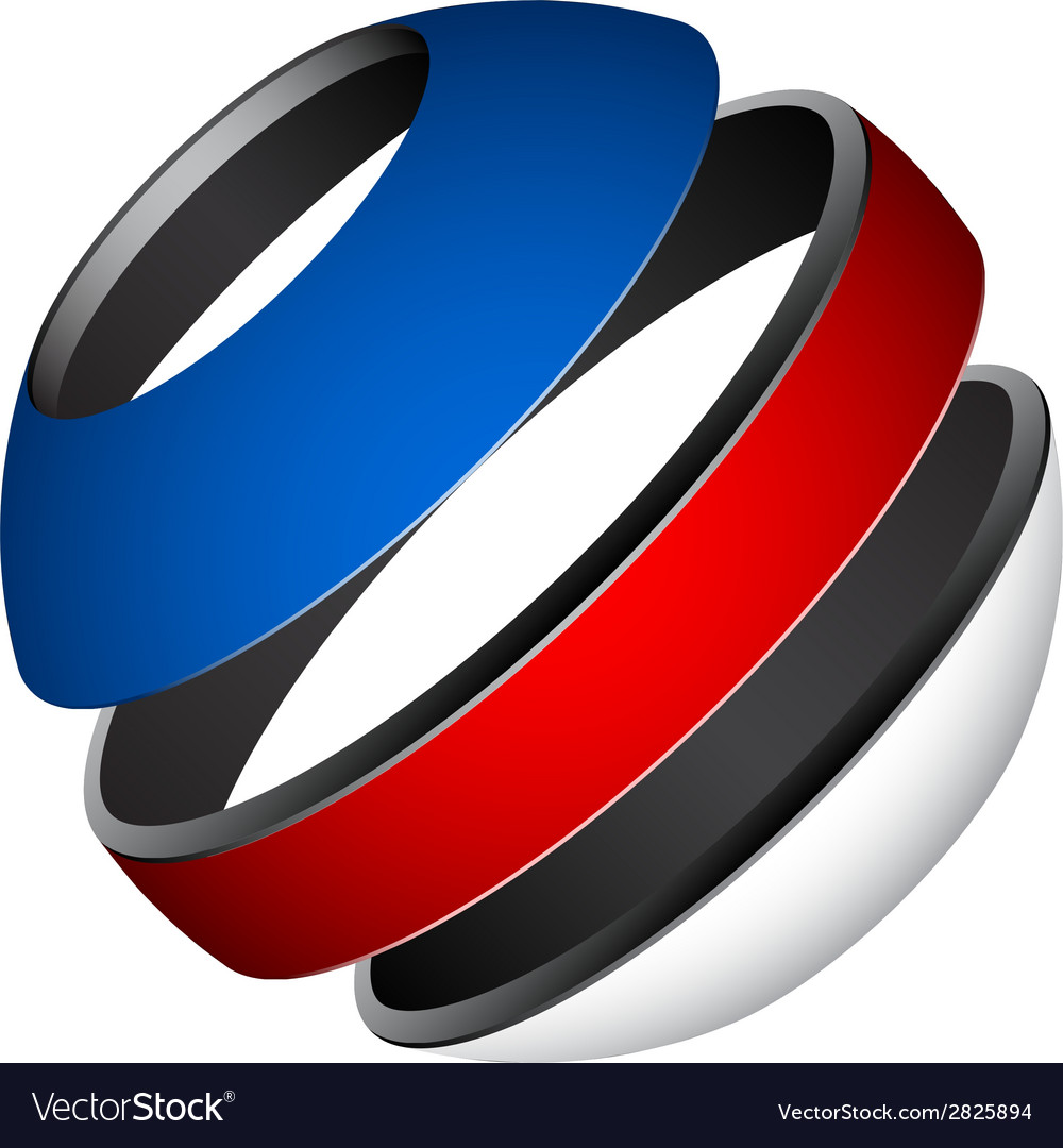 Patriotic tricolor globe