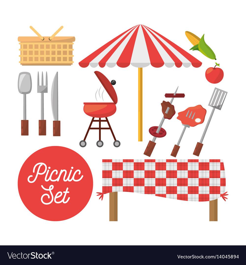 Picnic set equipment objects image