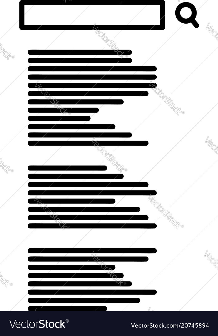 Search page icon vector image