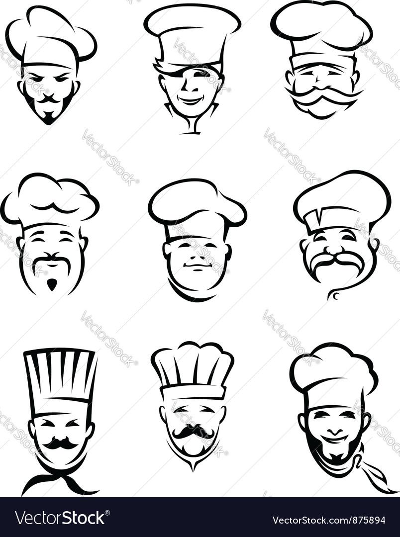 Set of different restaurant chefs vector image