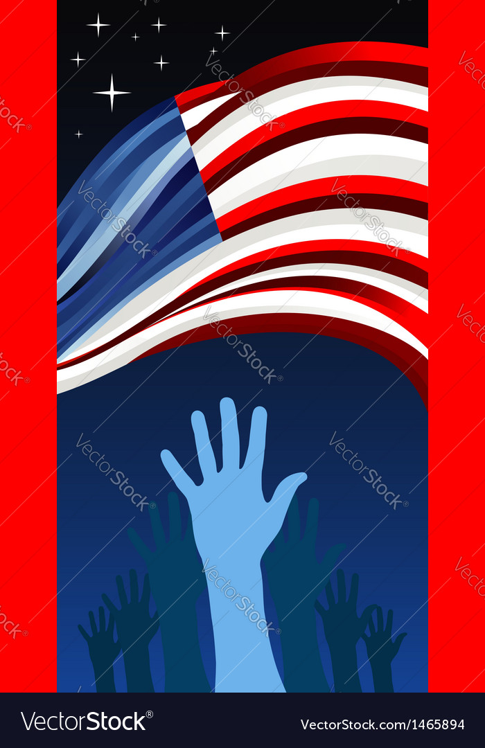 USA elections waving flag vector image
