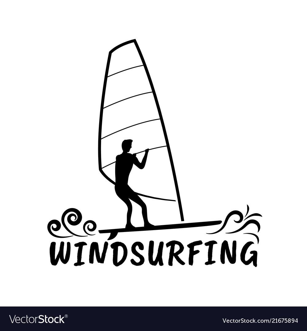 Wind surfing silhouette design