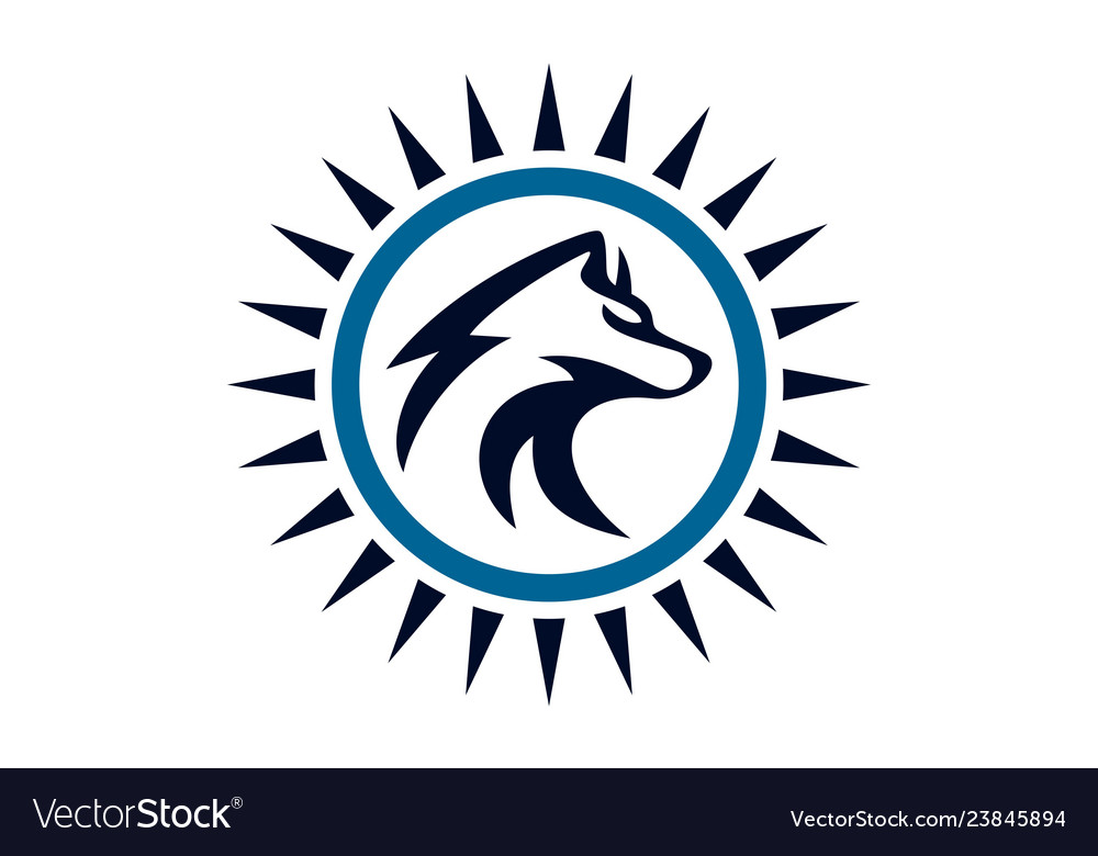Wolf abstract logo concept icon