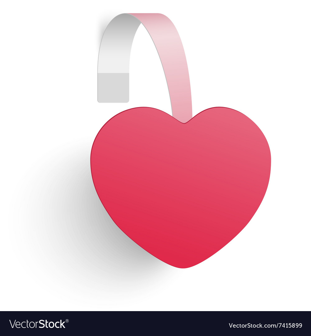 Advertising wobbler looking as a red heart vector image