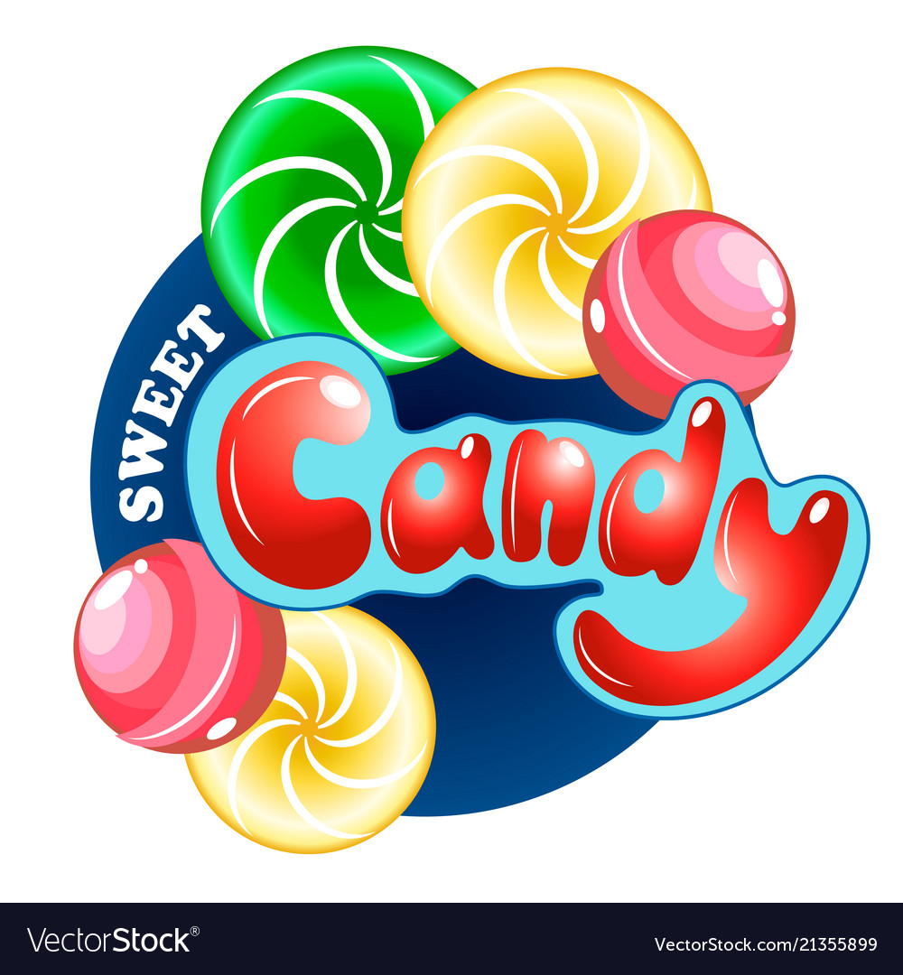 Candy set with lettering
