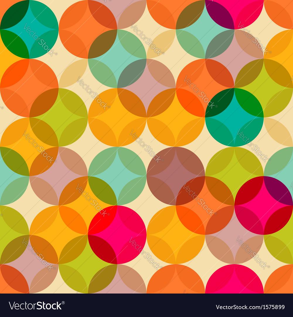 Circles vintage pattern