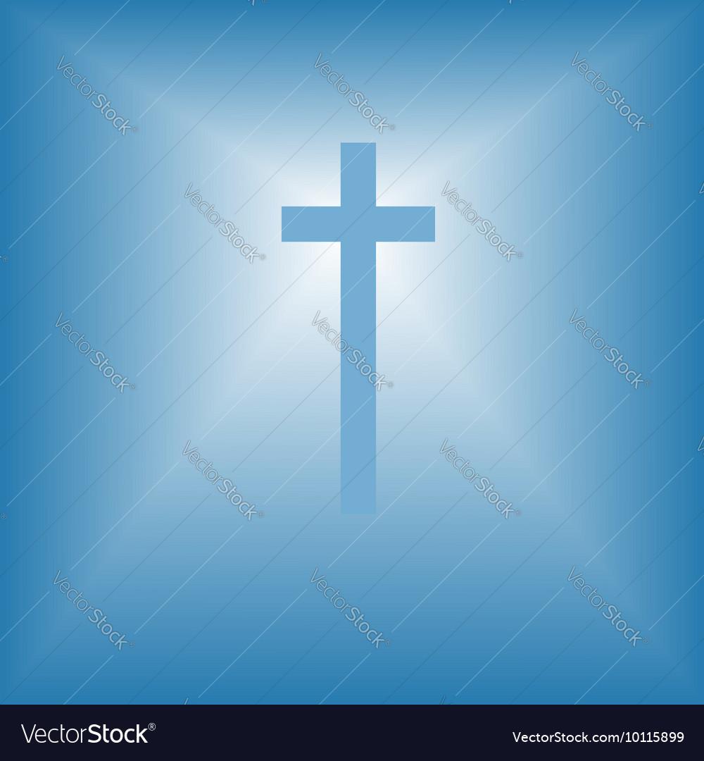 Cristian cross over bright light