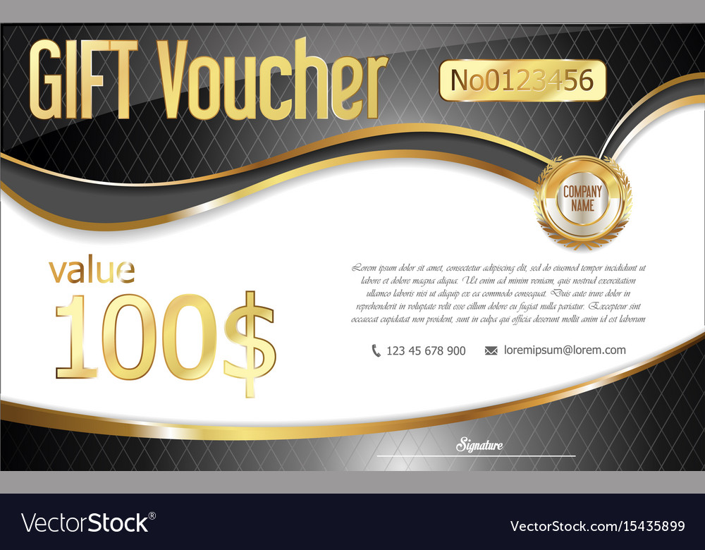 Gift voucher retro design template