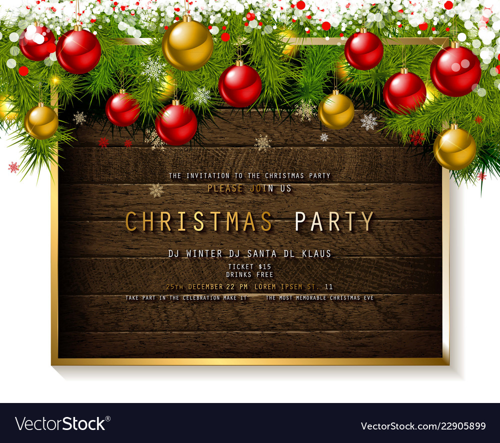 Invitation to christmas party