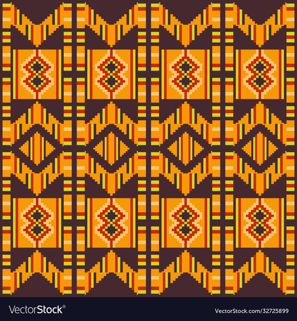 Kente cloth african textile ethnic seamless