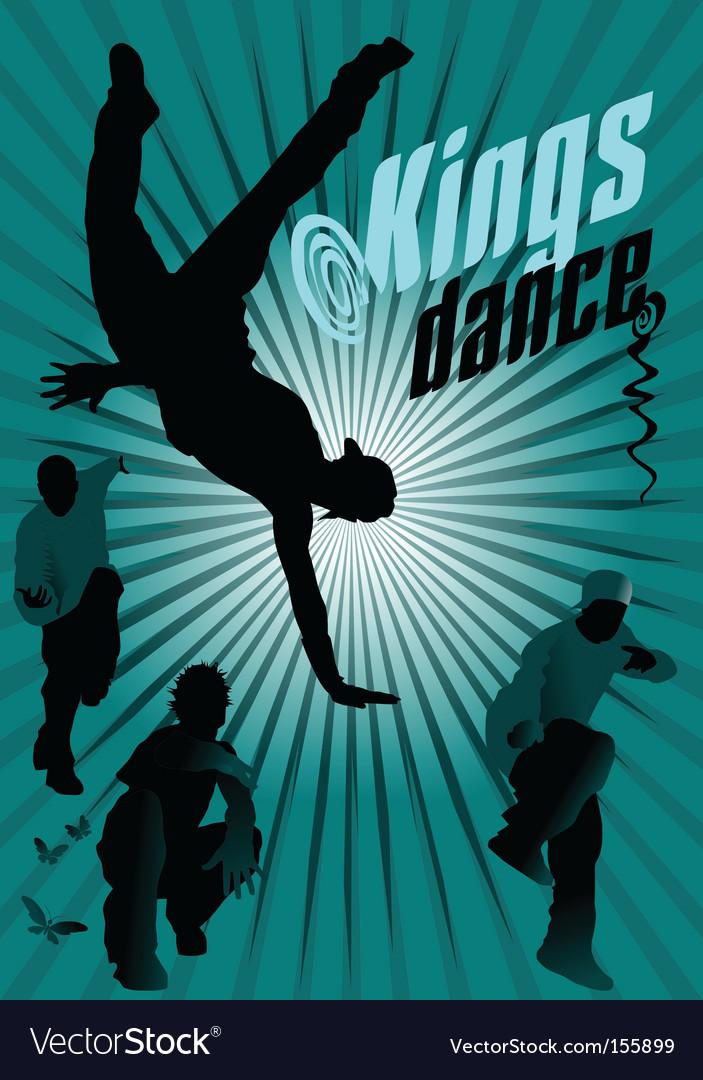 Kings dance vector image
