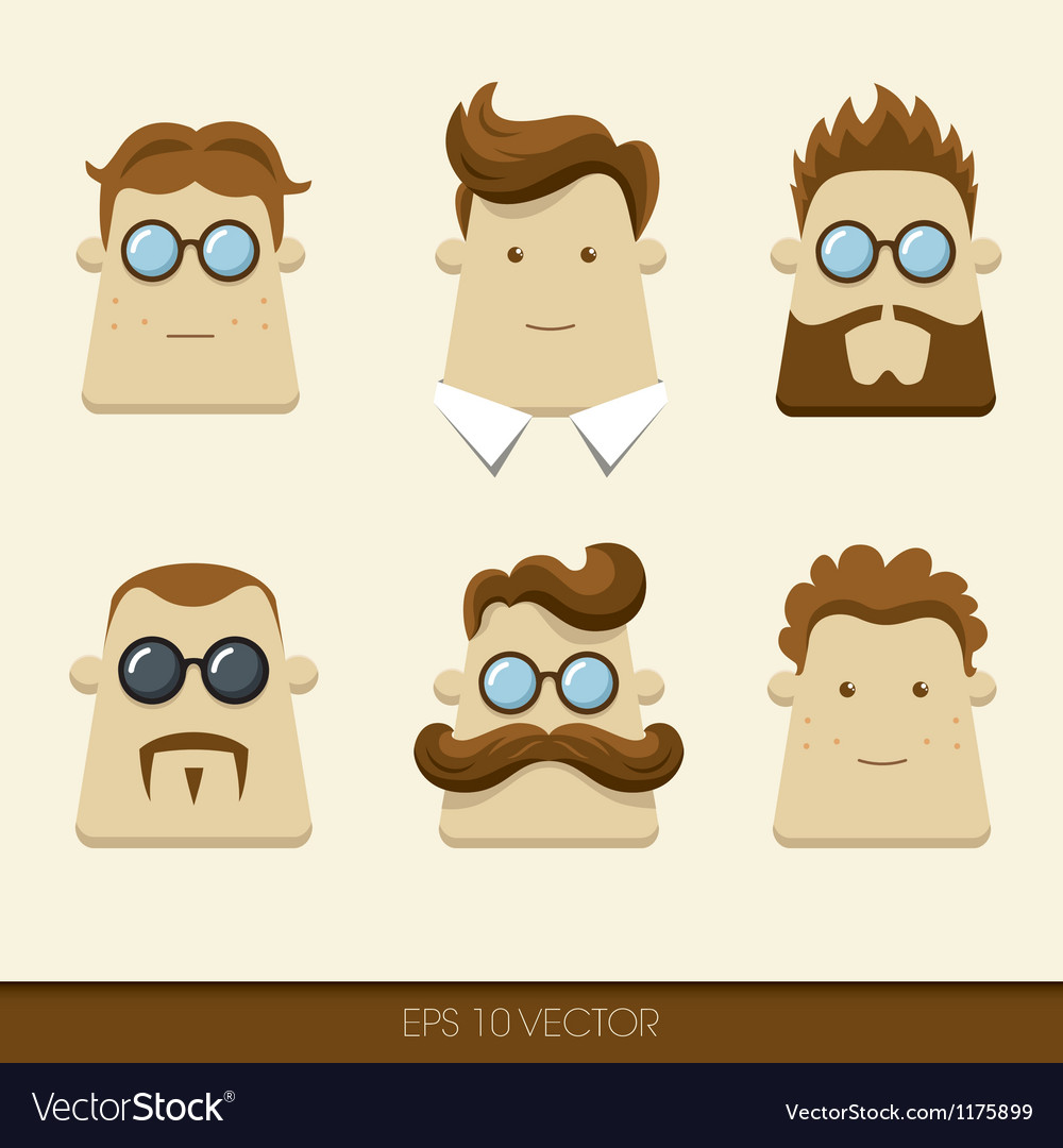 Men character icons