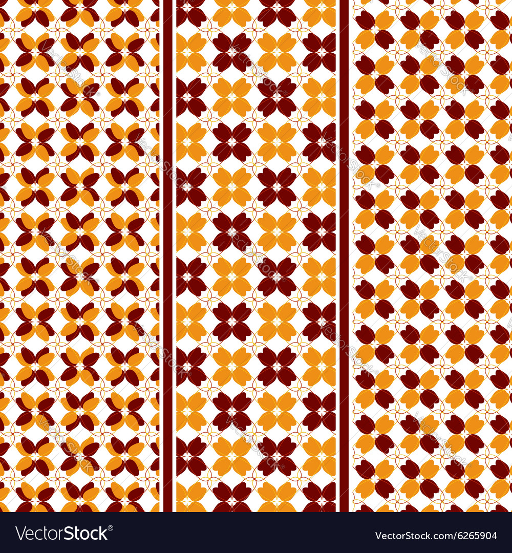 Abstract Autumn Leaves Pattern vector image
