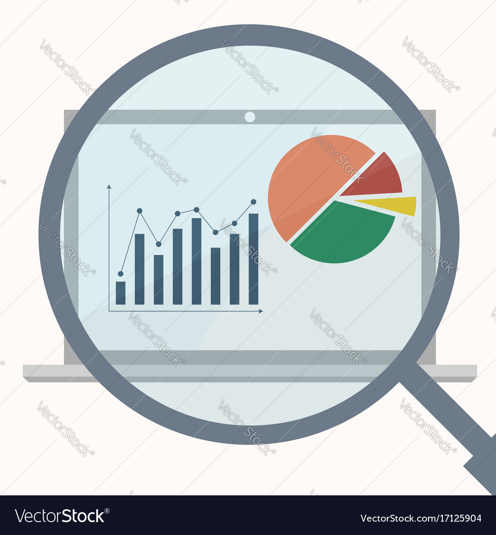 Analytics display with magnifier