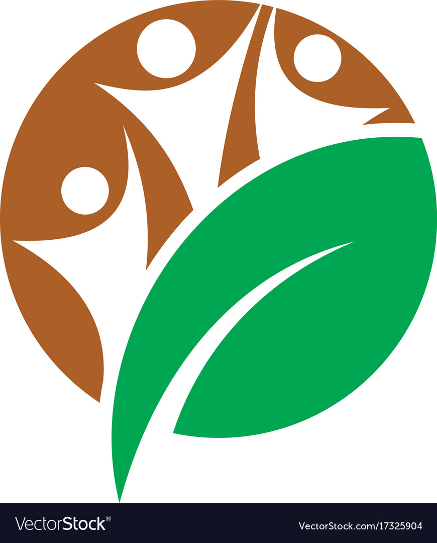 Circle human leaf eco logo