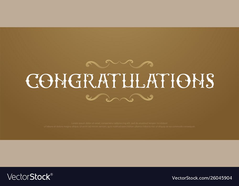 Congratulaions premium classic logo congrats
