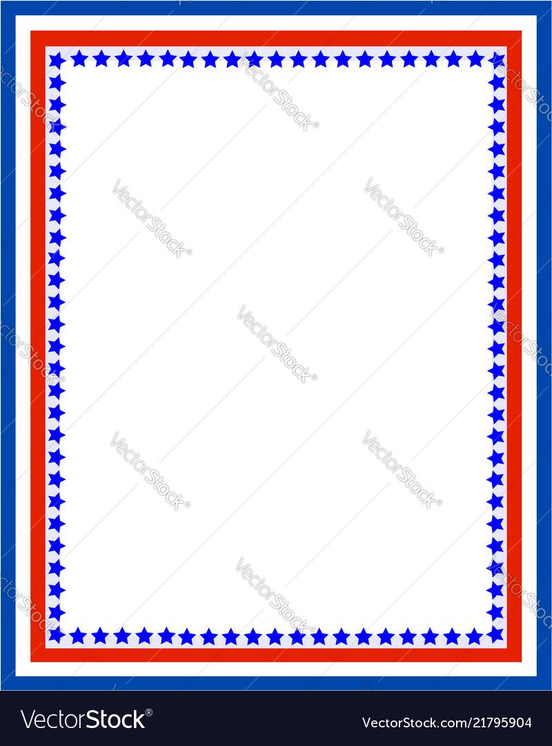 Decorative american patriotic red blue border
