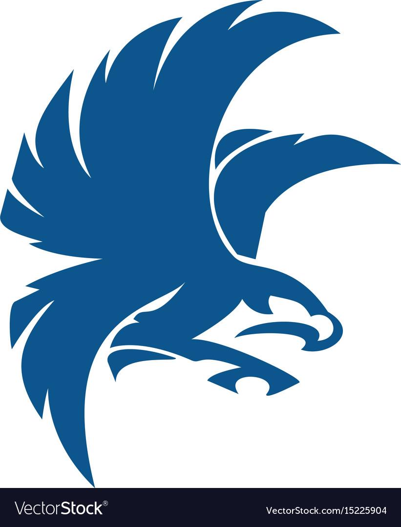 eagle bird logo abstract design royalty free vector image