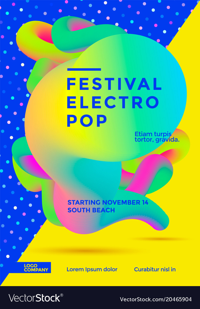 Festival electro pop