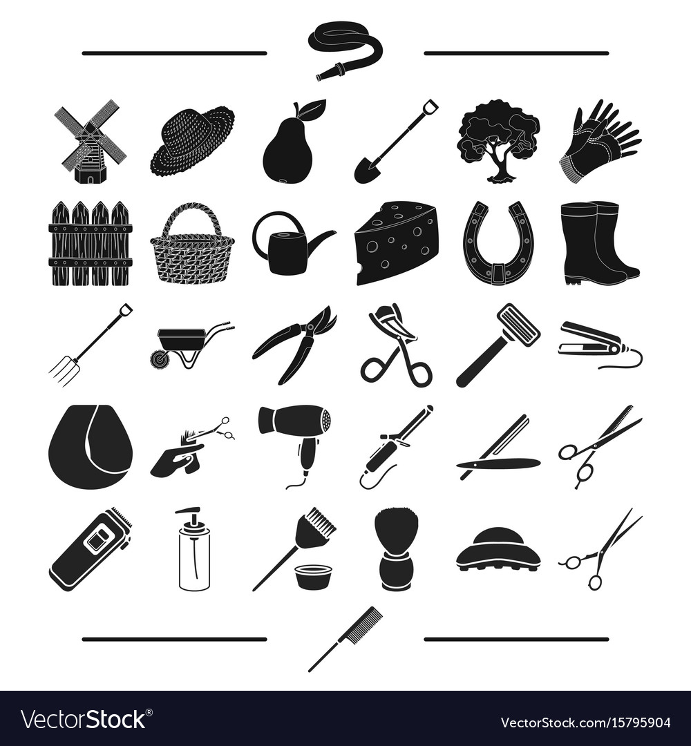 House gardening recreation and other web icon in vector image