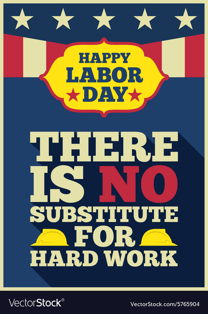Labor day quote greeting card