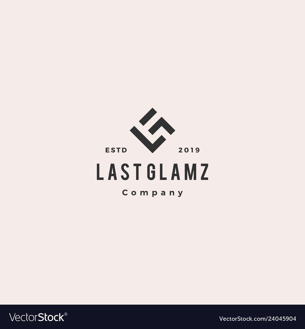 Lg letter logo hipster vintage retro monogram