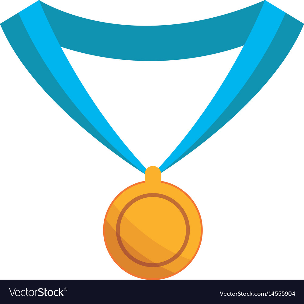 Medal award win sport gold icon vector image