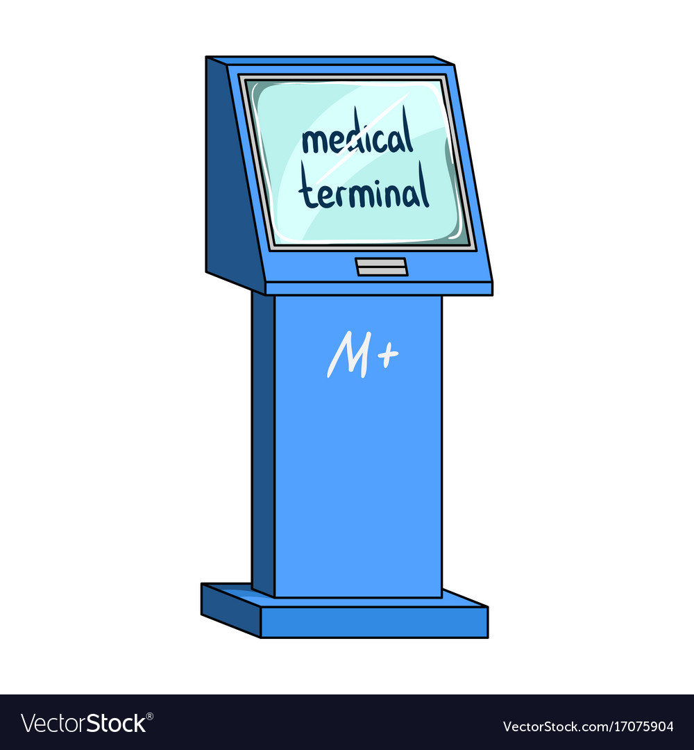 Medical terminal terminals single icon in cartoon