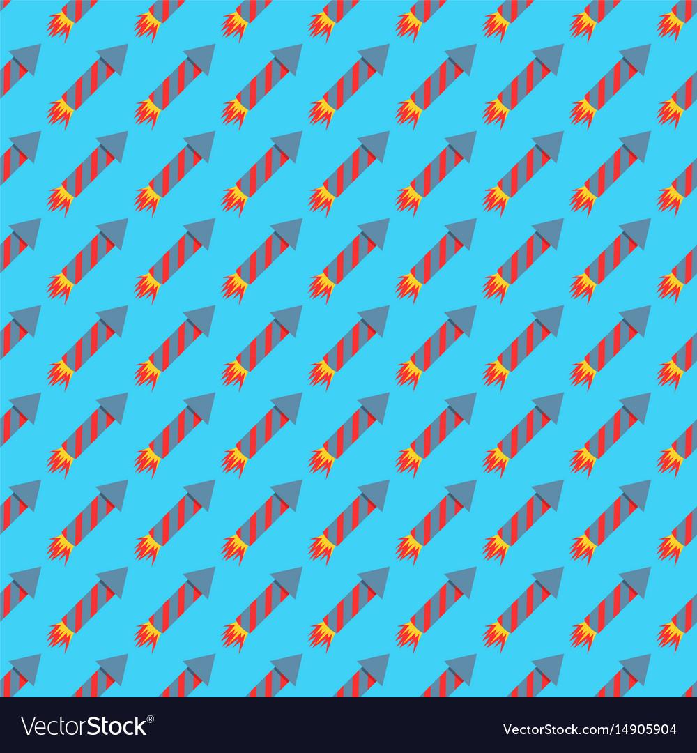 Missile rocket seamless pattern