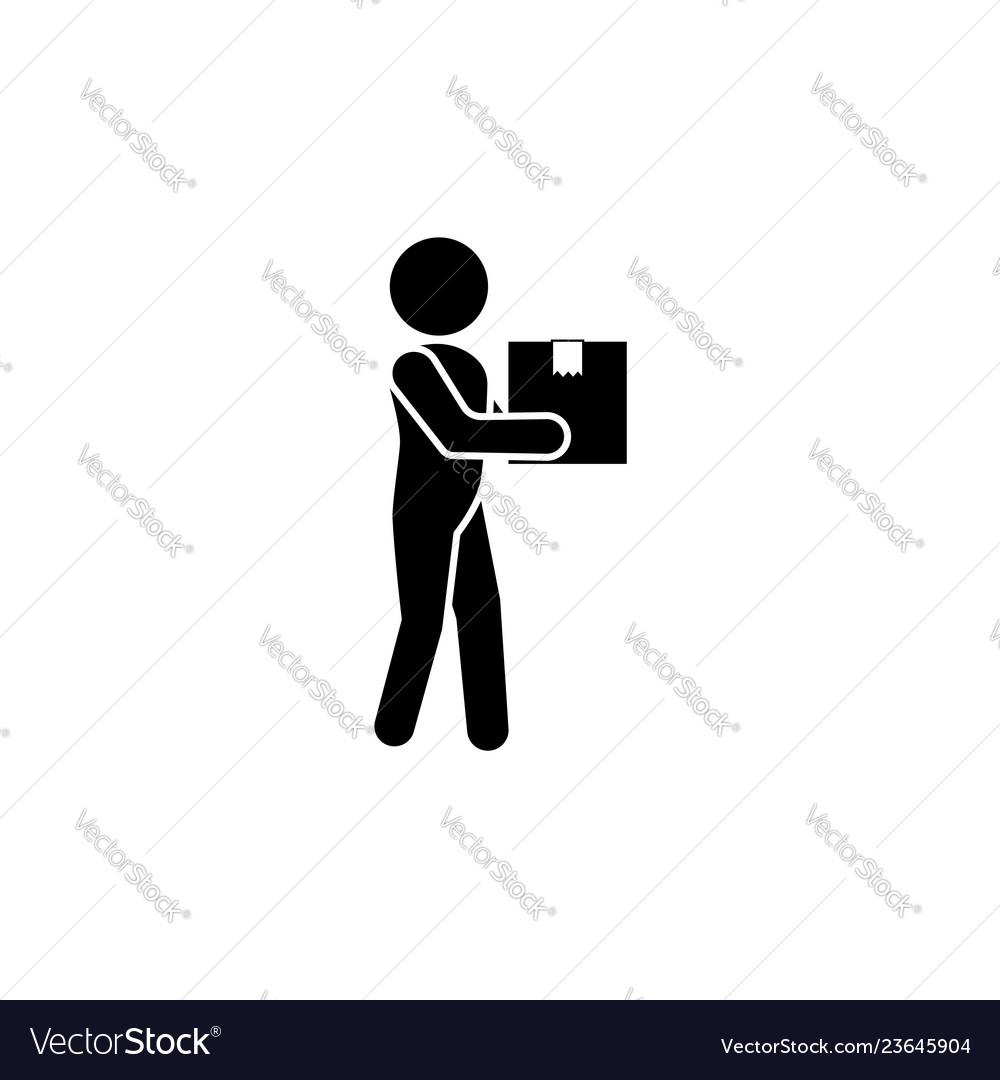 Postman icon courier icon black on white