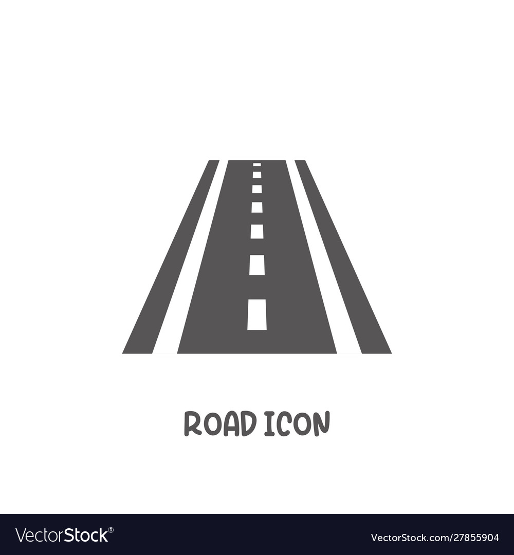 Road icon simple flat style