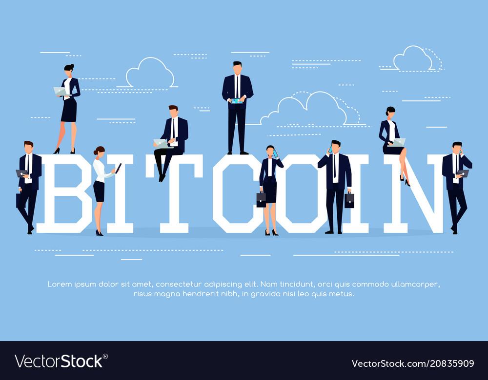 Bitcoin business concept