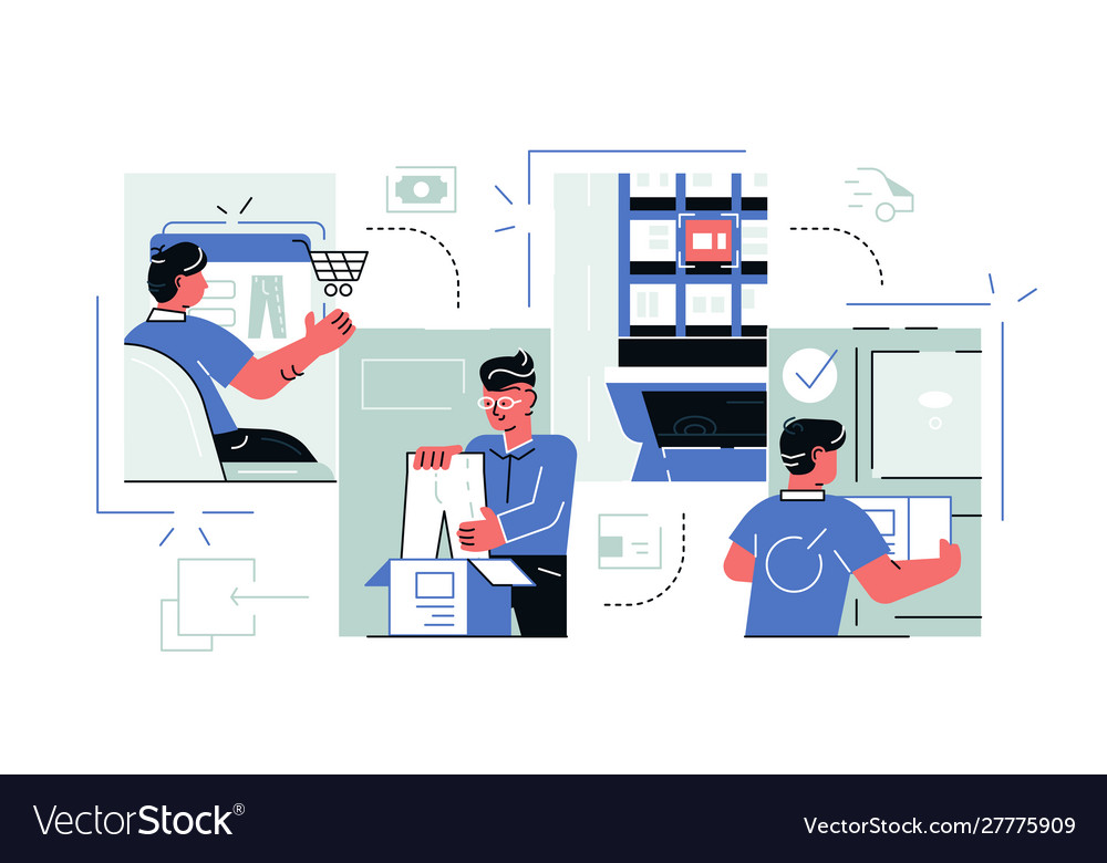 Buying goods process via internet app