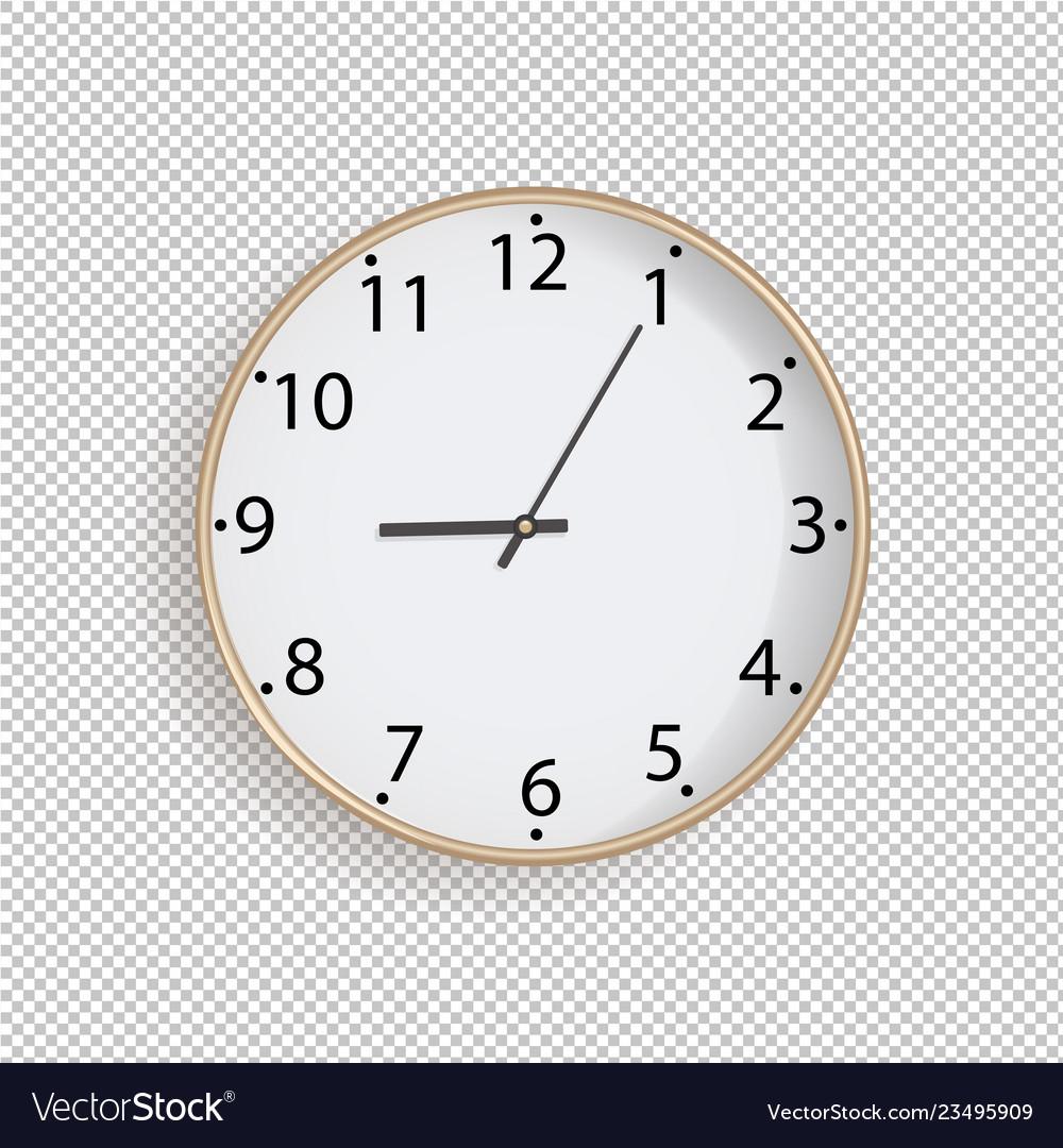 Clock on transparent background