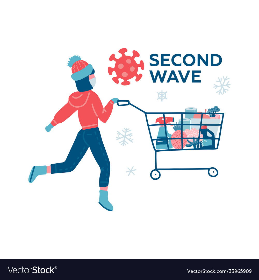 Coronavirus second wave winter shopping young