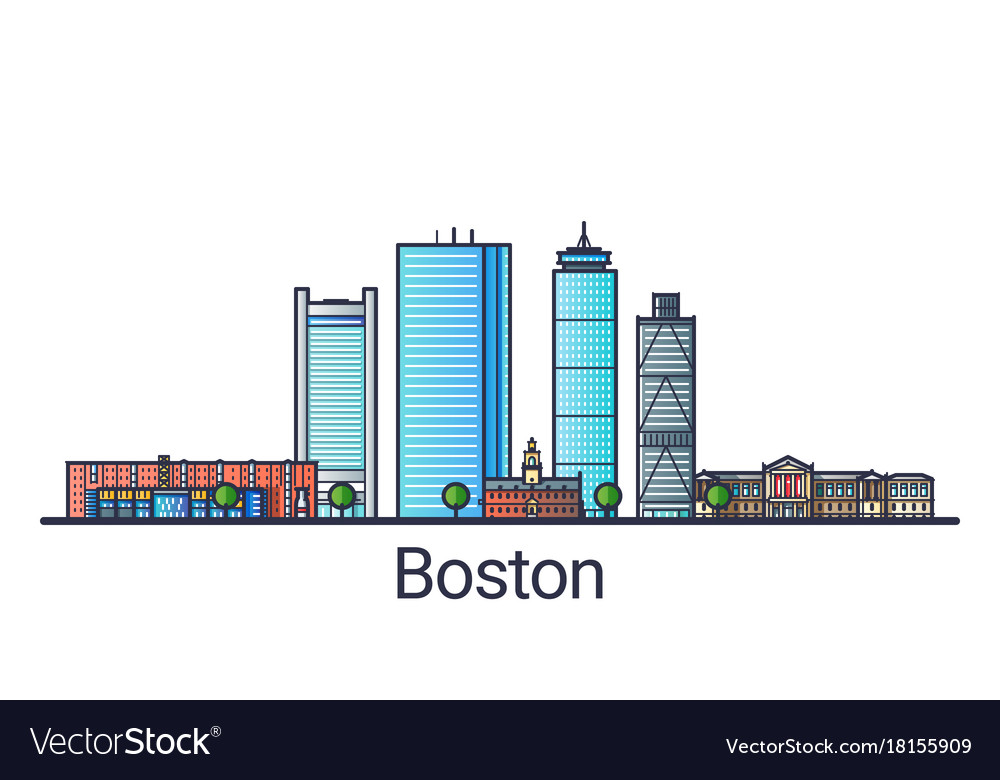 Flat line boston banner